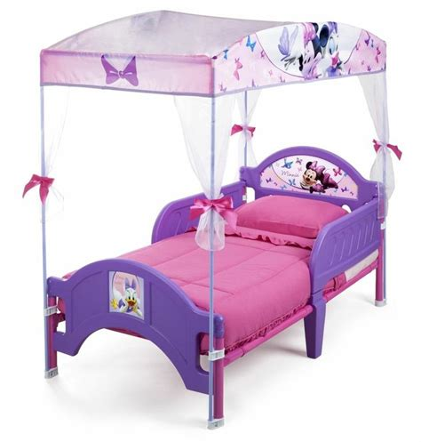disney minnie mouse canopy toddler bed bedroom