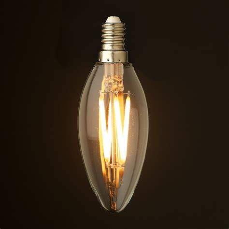 Candle Light Led Bulbs 4 Watt Dimmable Filament Led E14 Candle Bulb