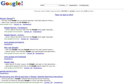 google wallpaper reddit here s what google looked like the first day it launched