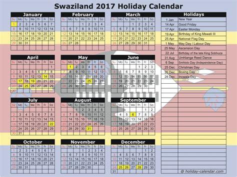 Bahamas Calend 2018 Swaziland 2017 2018 Calendar