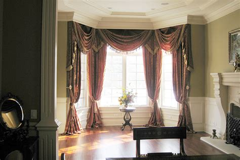 home decor design draperies curtains wondrous valances for bay windows curtains in living room