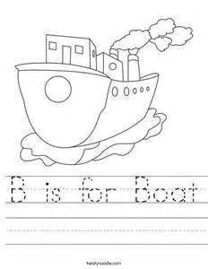 b is for boat worksheet twisty noodle