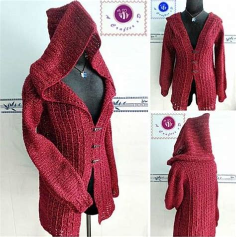 pattern hooded cardigan hooded cardigan patterns sweater tunic
