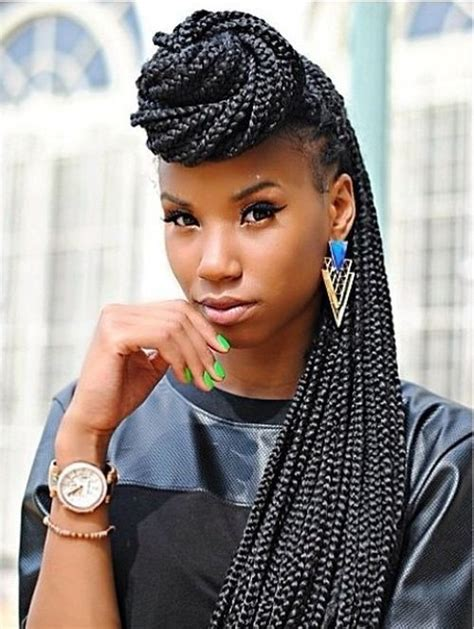 how to put long braids in a bun top 20 all the rage looks with long box braids