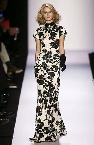 Catwalk To Carpet Beckham In Diane Furstenberg by Diane Furstenberg Black And White Floral Number It Is