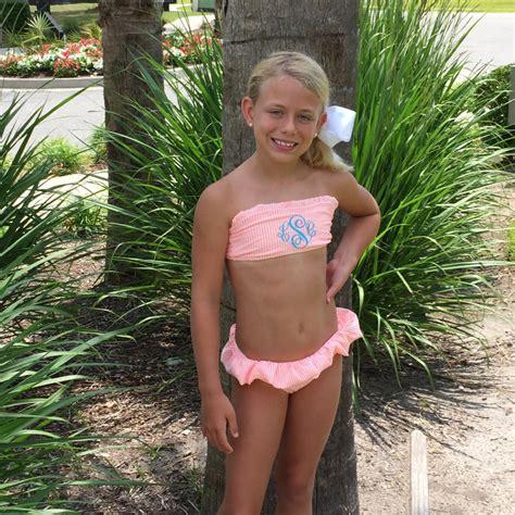 little lolitas in bathing suits new colorsgirls preteen monogrammed personalized seersucker