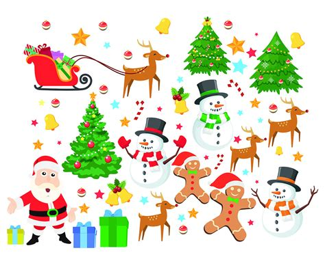 clip weihnachten elements digital clipart santa claus clip