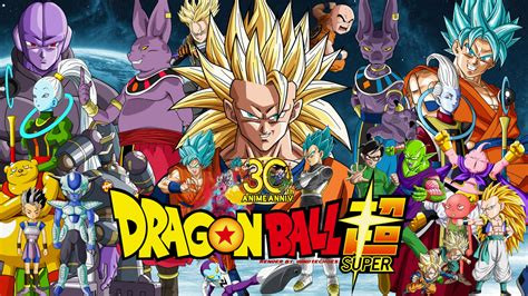 dragon ball wallpaper deviantart dragon ball super 30th anniversary wallpaper 1 by