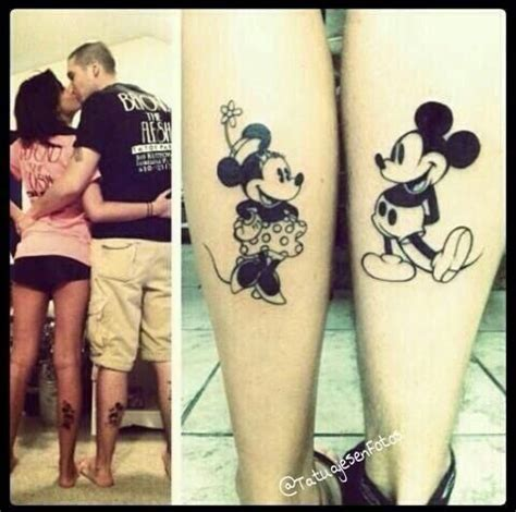 really cute matching mini and mickey tattoos disney