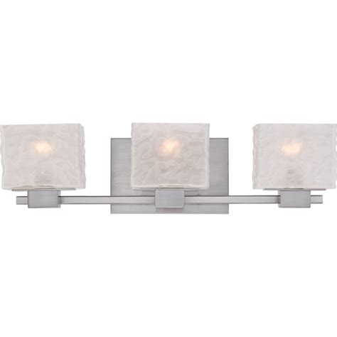 designer bathroom lighting fixtures quoizel mld8603bn melody modern brushed nickel finish 6 5