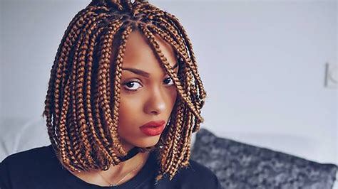 how to sleep with hair in bob the coolest box braids hairstyles you need to try the