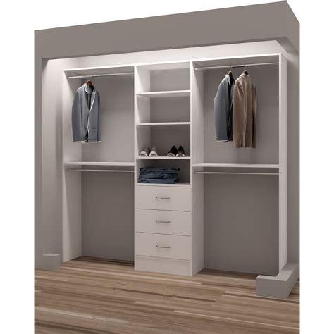 furniture white wood closet organizer with shoe racks and