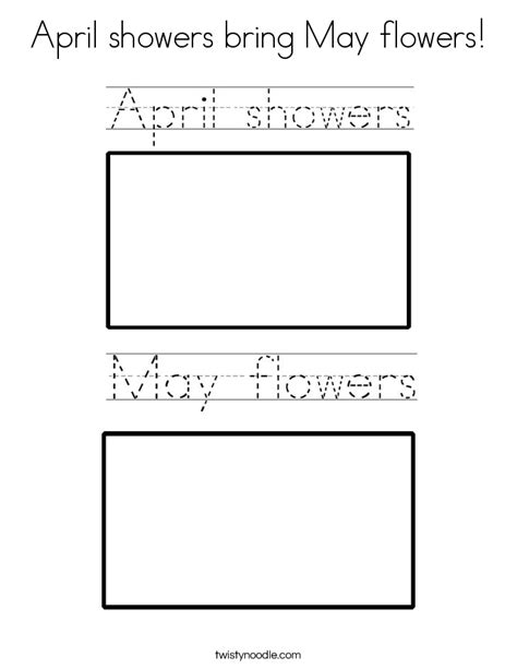 april showers bring may flowers coloring page twisty noodle