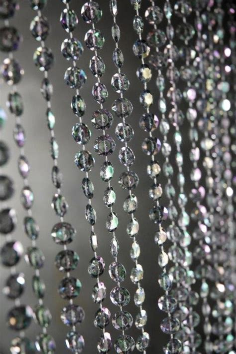 crystal curtains beaded curtain smoke 6ft