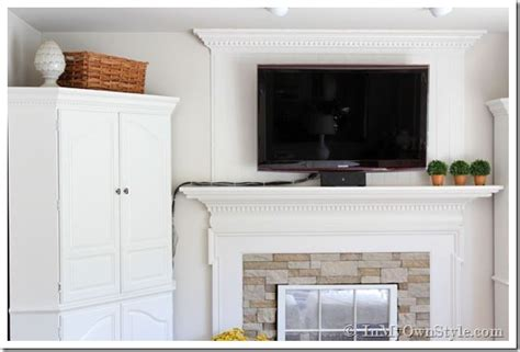 how to hide tv wires brick fireplace how to hide the cords on a flat screen tv in my own style