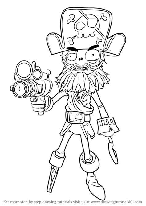 learn how to draw captain deadbeard from plants vs