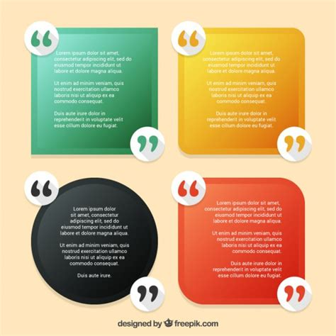 3 In 1 Spot Template Pack pack of quotes template vector free