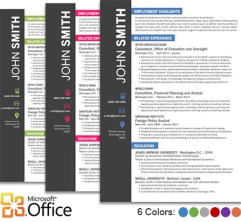 Trendy Top 10 Creative Resume Templates For Word Office Eye Catching Resume Templates Microsoft Word Free