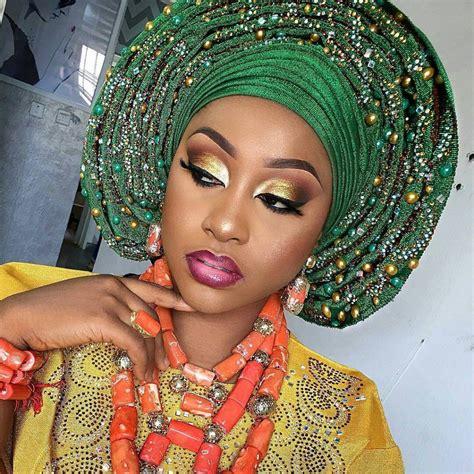 tutorial on nigerian bridal makeup how to tie bridal gele step by step tutorial jiji ng blog