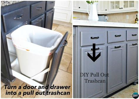 diy trash can cabinet diy trash can cabinet projects