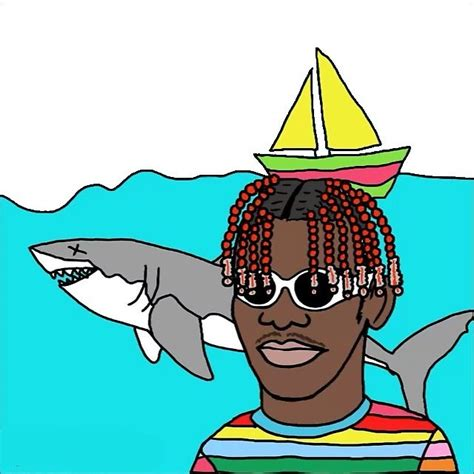 lil boat quot lil yachty lil boat happy drawing quot by budinoski