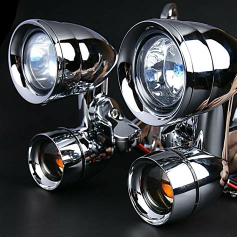 fairing mounted driving lights with turn signals for