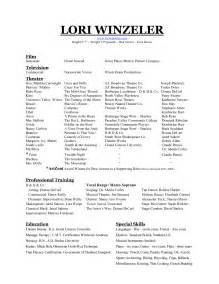 Audition Resume Format Best Photos Of Sample Dance Resume Format Dance Resume