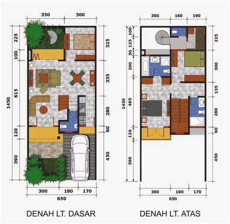 contoh denah rumah minimalis dua lantai sederhana info bisnis properti