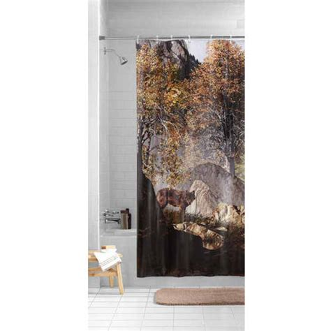 wolf shower curtain mainstays wilderness wolf photoreal peva shower curtain