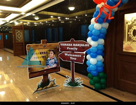 Entrance Decoration For Birthday by Themed Birthday Decoration At Hotel Shenbaga