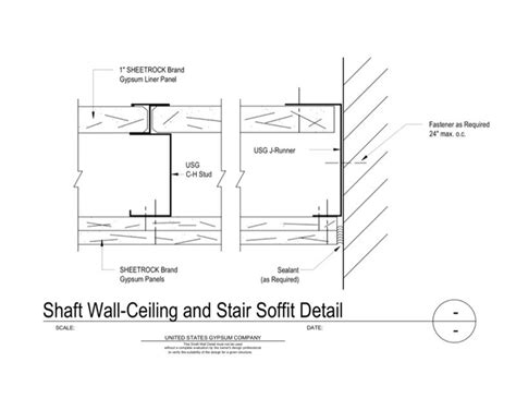 usg design studio 09 21 16 23 331 shaft wall ceiling and