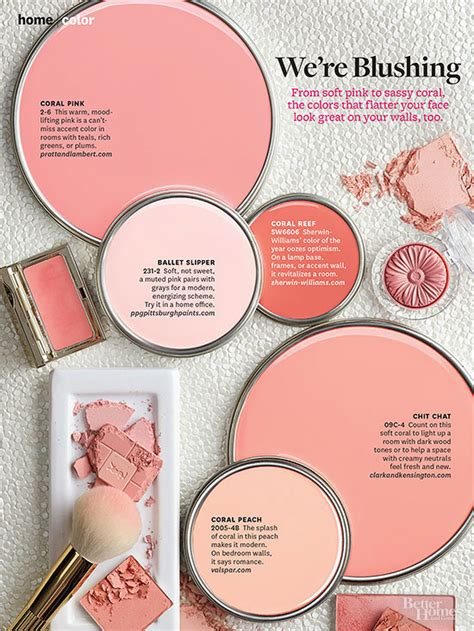 best coral paint colors better homes and gardens january 2014 paint palette we