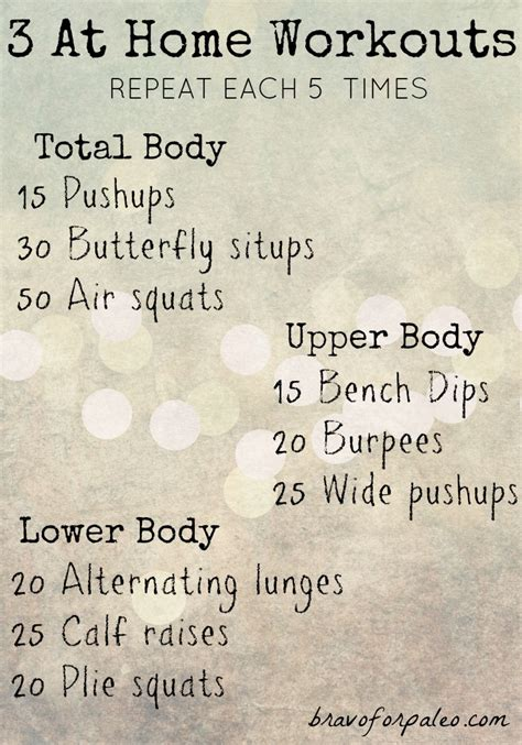 at home workouts without equipment bravo for paleo