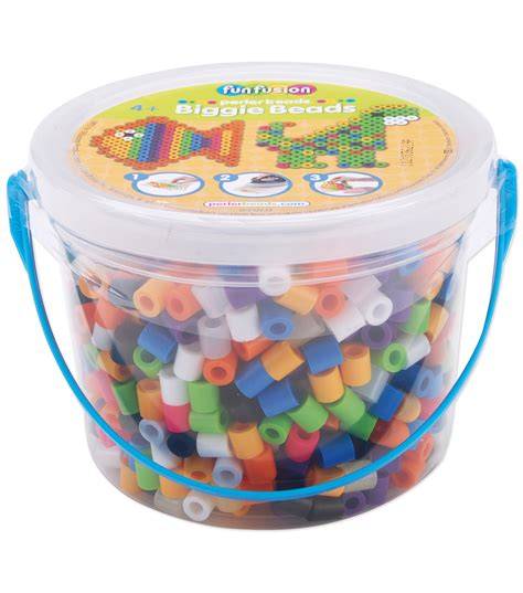 jumbo perler perler biggie bead 1200 pkg 8 colors jo