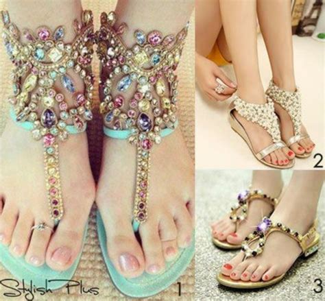 beautiful summer sandals shoes sandals summer sparkle pearl beautiful wheretoget