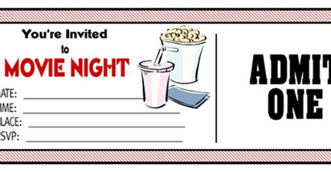 diy tickets for movie night families make your own and