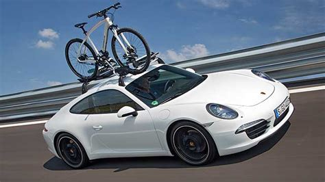 porsche bicycle car take that jaguar every porsche 911 coupe can carry bikes