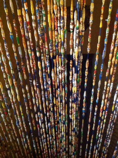 paper bead curtain many paper beads together curtain things i created