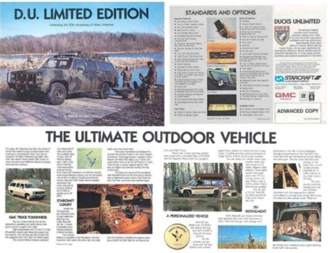 1990 chevy suburban ducks unlimited conversion packages