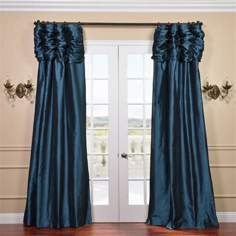 Shopping For Drapes Ruched Header Mediterranean Solid Color Faux Silk Taffeta