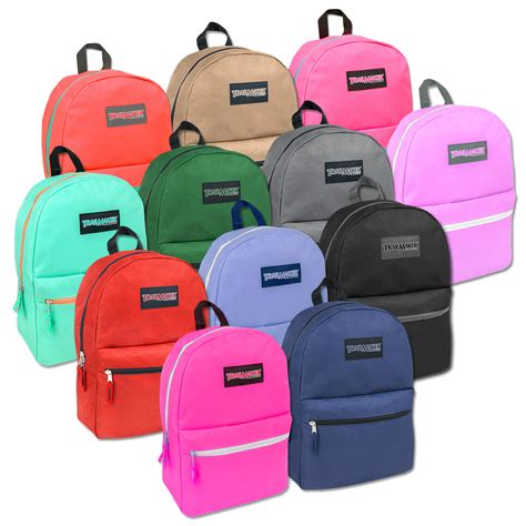 cheap wholesale wholesale trailmaker 17 inch backpack in 12 colors