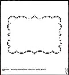 bracket shape free templates cards envelopes