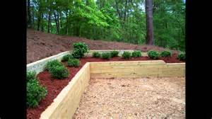 Using Landscape Timbers For Retaining Wall Landscape Inc Treated Timber Retaining Wall