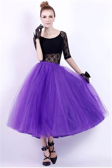Dress Fashions Import 200 Black Purple purple black tea length dress black dresses dressesss