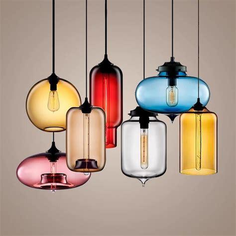 Colorful Pendant Lighting Vintage Colorful Glass Pendant Light For Dining Room Igf Usa