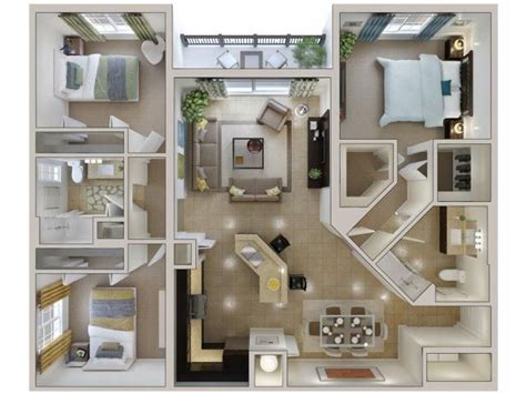 one bedroom apartments in kendall 37 best 3d floor plans for sims images on pinterest architecture apartment plans