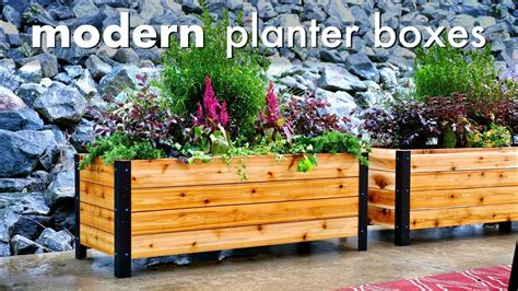 Diy Modern Planter by Diy Modern Raised Planter Box How To Build