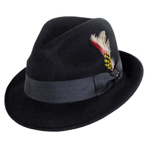 Hats To You by Jaxon Hats Blues Crushable Wool Felt Trilby Fedora Hat All