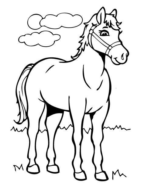 coloring pages of cartoon horses cartoon horse coloring page free printable coloring