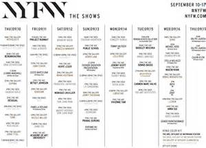 Mercedes Fashion Week Schedule Mercedes New York Fashion Week Schedule